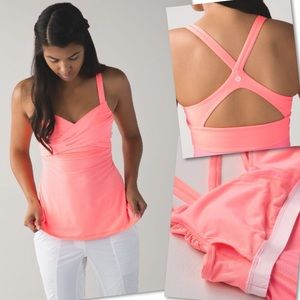 LULULEMON GRAPEFRUIT WRAP IT UP TANK TOP SZ 8